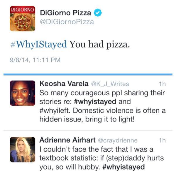digiorno whyistayed hashtag gaffe