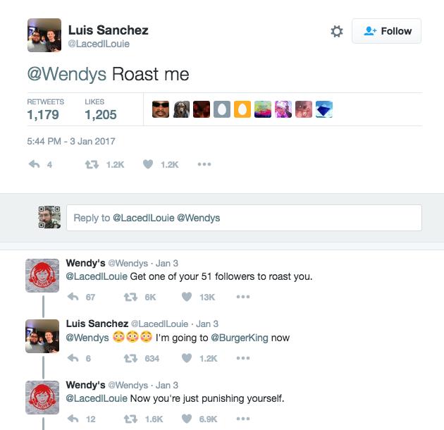 wendys twitter roast