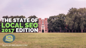 The state of local SEO - 2017 edition