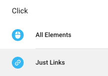 Choose the Just Links trigger from the Click category.