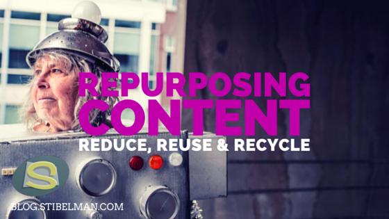 Repurposing content – Reduce, Reuse & Recycle