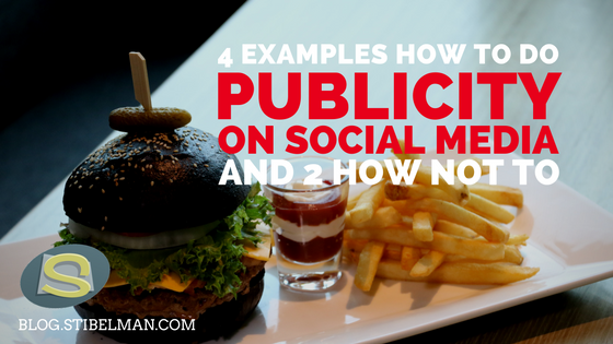 4 examples how to do publicity on social media and 2 how not to
