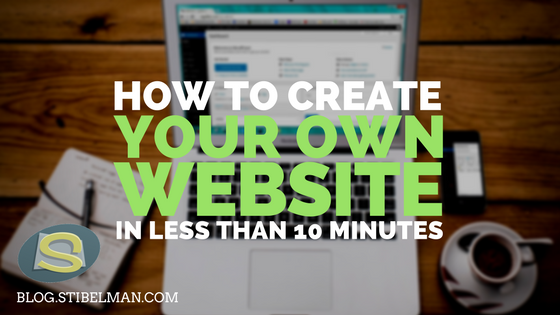 How to create your own website in less than 10 minutes