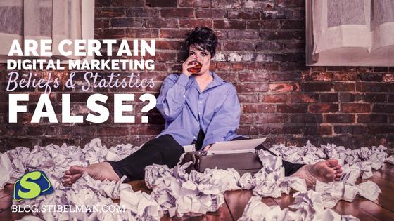 Are certain digital marketing beliefs and statistics false?