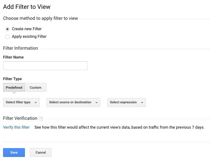 New Google Analytics Filter